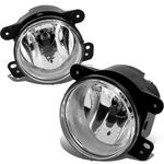 07-17 Jeep Wrangler 4Wd Jk Clear Lens OE Bumper Driving Fog Lights