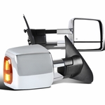 07-17 Toyota Tundra / 08-17 Sequoia Power Heated Chrome Tow Mirrors+LED Signal