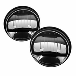 "07-18 Jeep Wrangler 7"" Round LED Headlights - Black Housing"