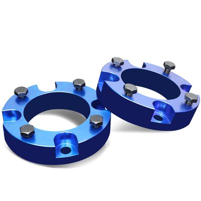 """07-18 Toyota Tundra 2WD 4WD Blue 2"""" Front Spacers Suspension Leveling Lift Kit"""