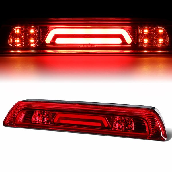 07-18 Toyota Tundra 3D LED Bar 3rd Third Brake Light Rear Cargo Lamp (Red / Clear)