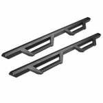 07-18 Wrangler 4 Door Unlimited Matte Black Drop Step Side Nerf Bars Rail Boards