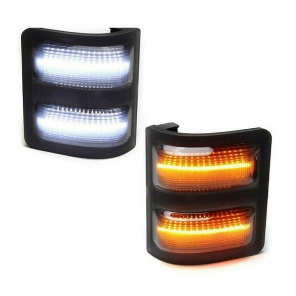08-16 Ford F250 F350 F450 F550 SuperDuty Switchback LED Amber / White Tow Mirror Light - Smoked