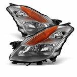 08-09 Nissan Altima Coupe [Halogen Model] Crystal Replacement Headlights - Chrome
