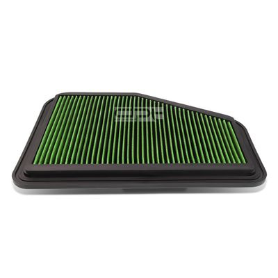 08-09 Pontiac G8 / Chevy Caprice / SS Reusable & Washable Replacement High Flow Drop-in Air Filter (Green)