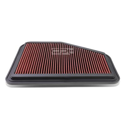 08-09 Pontiac G8 / Chevy Caprice / SS Reusable & Washable Replacement High Flow Drop-in Air Filter (Red)