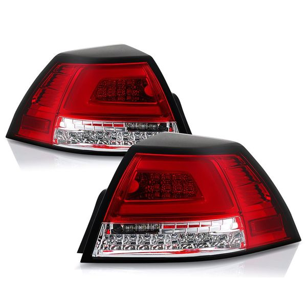 08-09 Pontiac G8 LED Tube Tail Lights - Red / Clear