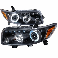 08-10 Scion xB LED-DRL & Halo Projector Headlights - Black