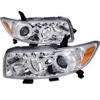08-10 Scion xB LED-DRL & Halo Projector Headlights - Chrome