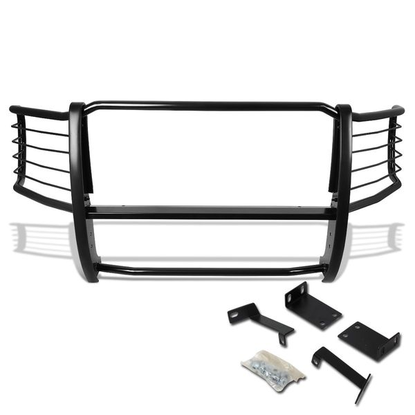 08-10 Ford F250 / F350 / F450 / F550 Superduty Front Bumper Protector Brush Grille Guard (Black)