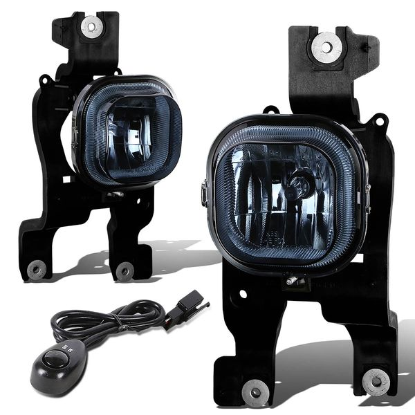 08-10 Ford F250 F350 F450 Superduty Sd Smoked Lens OE Bumper Fog Lights Pair+Switch