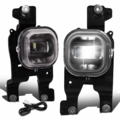 08-10 Ford F250-F550 Super Duty Clear Lens Projector LED Fog Light w/Switch