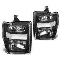08-10 Ford Sueprduty F250 F350 F450 F550 Replacement Crystal Headlights - Black Clear