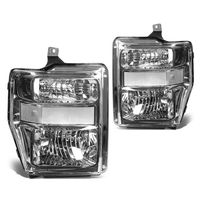 08-10 Ford Sueprduty F250 F350 F450 F550 Replacement Crystal Headlights - Chrome Clear