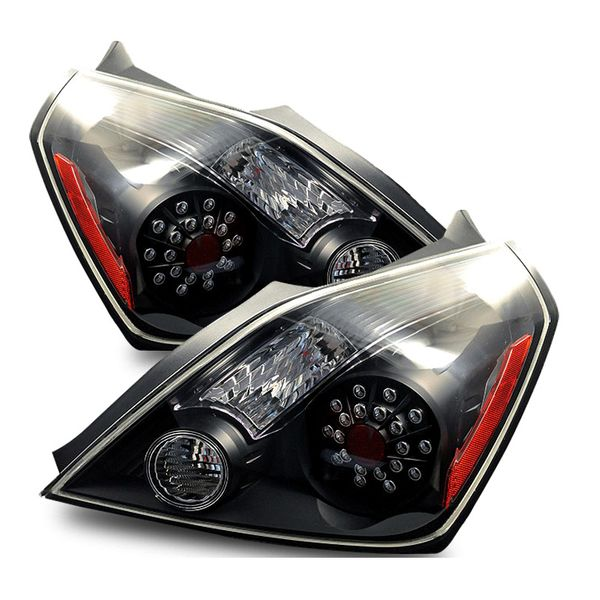 08-10 Nissan Altima 2DR Coupe Euro Style LED Tail Lights - Black