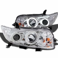 08-10 Scion xB CCFL Halo Angel Eye Projector Headlights - Chrome