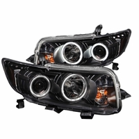 08-10 Scion xB CCFL Halo LED Projector Headlights - Black