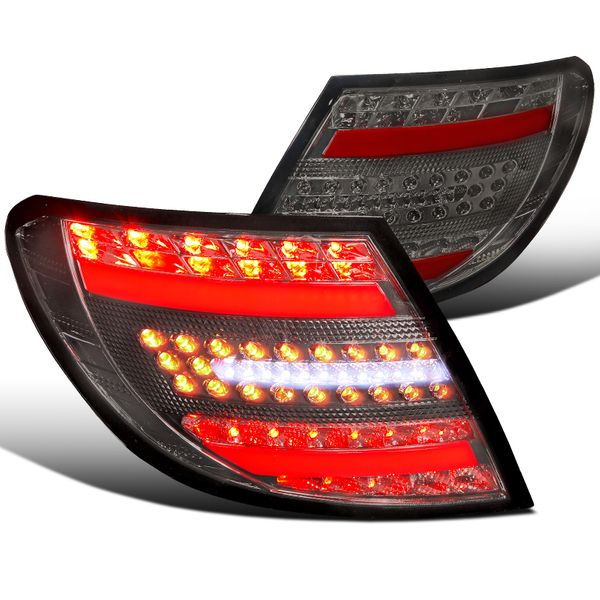 08-11 Benz W204 C-Class Full LED Replacement Tail Lights - Smoked