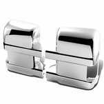 08-11 Ford Super Duty Pair of 4pcs Upper+Lower Exterior Side Door Mirror Covers Chrome
