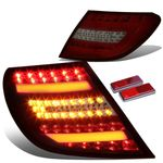 08-11 Mercedes-Benz W204 C-Class AMG Red Housing Smoked Lens 3D LED Rear Tail Brake + Corner Signal Light