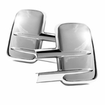 08-12 F-Series Superduty Pickup Chrome Side Mirror Cover W O Turn Signal Cover