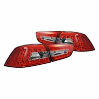 08-12 Mitsubishi Lancer (Evo) Euro Style LED Tail Lights - Red / Clear