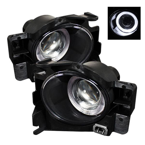 08-12 Nissan Altima Coupe 2DR LED Halo Projector Fog Lights - Clear
