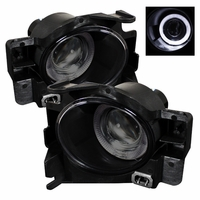 08-12 Nissan Altima Coupe 2DR LED Halo Projector Fog Lights - Smoked
