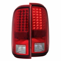 08-16 Ford F250 / F350 Superduty Euro LED Tail Lights - Red / Clear