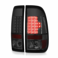 08-16 Ford F250 350 450 550 Super Duty Full LED Tail Lights - Smoked