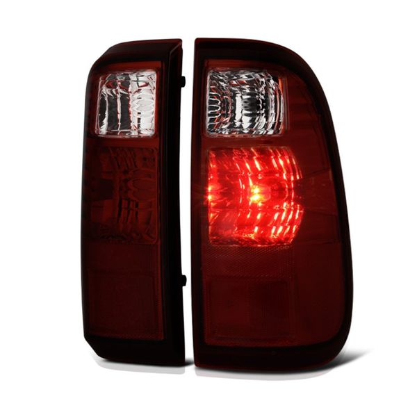 08-15 Ford F250 F350 F450 Superduty OEM Style Replacement Tail Lights Pair - Smoked