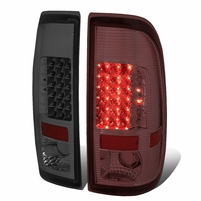 08-16 Ford F250/F350/F450/F550 Super Duty Pair of LED Tail Brake Lights (Chrome Housing Smoked Lens)