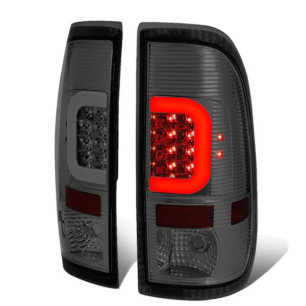 08-16 Ford F250-F550 Super Duty C-Tube LED Tail Lights - Smoked