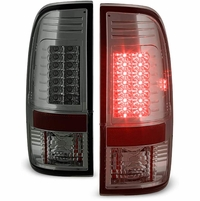 08-16 Ford Superduty F250-F450 LED Tail Lights|Chrome Smoked