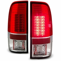 08-16 Ford Superduty F250-F450 LED Tail Lights|Red Clear