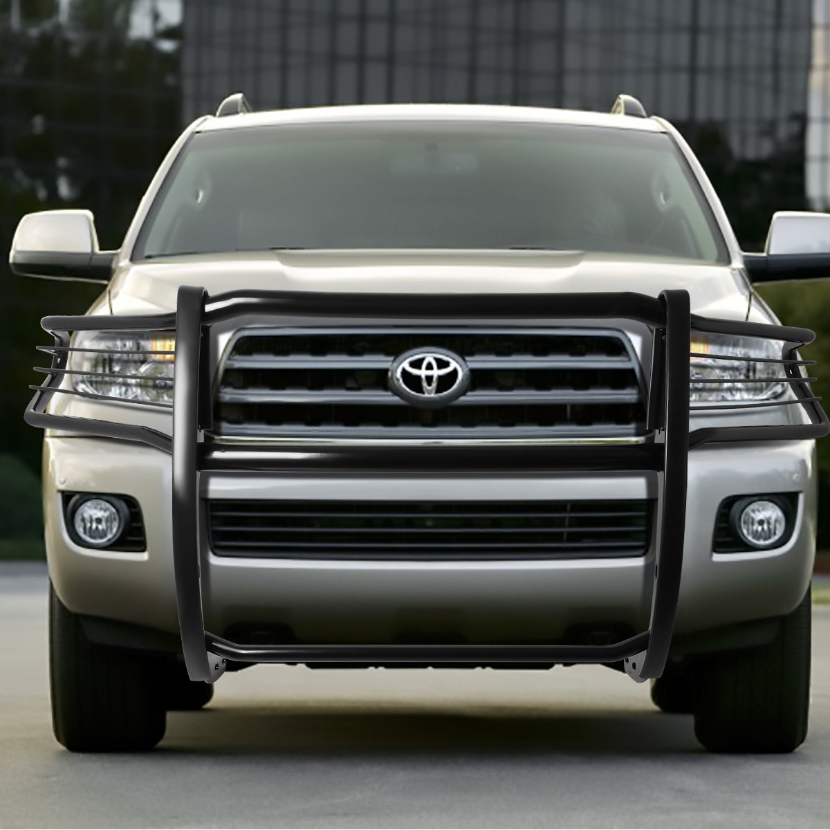 Toyota Sequoia: 08-16 Toyota Sequoia Front Bumper Protector Brush Grille