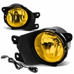 08-16 Toyota Sequoia Pair of Bumper Round Driving Fog Lights+Switch (Amber Lens)