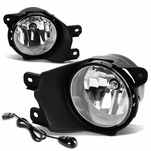 08-16 Toyota Sequoia Pair of Bumper Round Driving Fog Lights+Switch (Clear Lens)