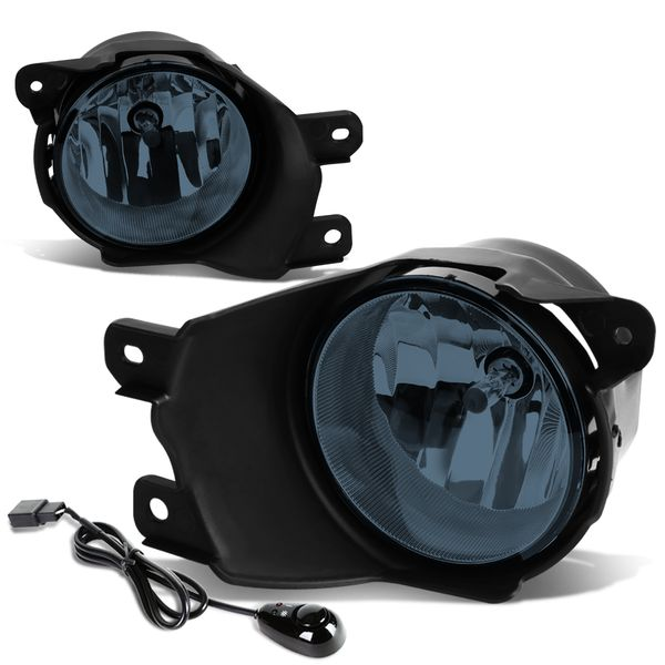08-16 Toyota Sequoia Pair of Bumper Round Driving Fog Lights+Switch (Smoked Lens)