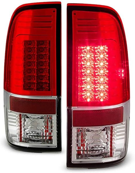 08-16 Ford Superduty F250-F450 LED Tail Lights Red Clear