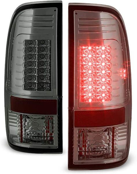 08-16 Ford Superduty F250-F450 LED Tail Lights Chrome Smoked