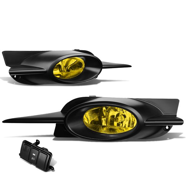 09-11 Honda Civic Coupe Fg1/2 Yellow Lens Oe Driving Fog Light Lamp+Switch