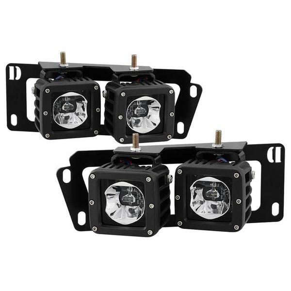 09-12 Dodge RAM 1500 / 10-18 RAM 2500 3500 LED Pod Fog Lights