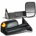 09-12 Dodge RAM 1500 / 10-12 2500 3500 Power Heated Telescopic Extending Towing Mirrors [LED Signal] - Pair