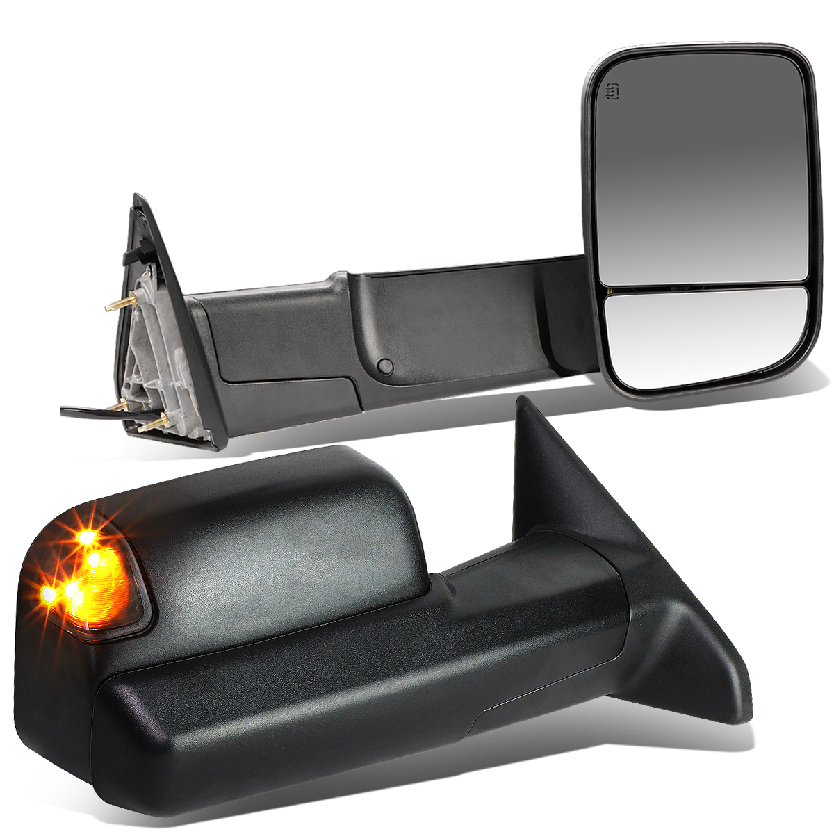 For 2010 Dodge Ram 1500 Chrome Tailgate Handle Cover Mirror Cover With Signal