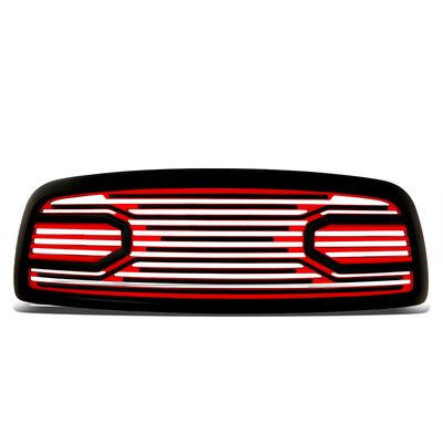 09-12 Dodge RAM 1500 [Big Horn Style] Front Full Replace Grille - Red / Black