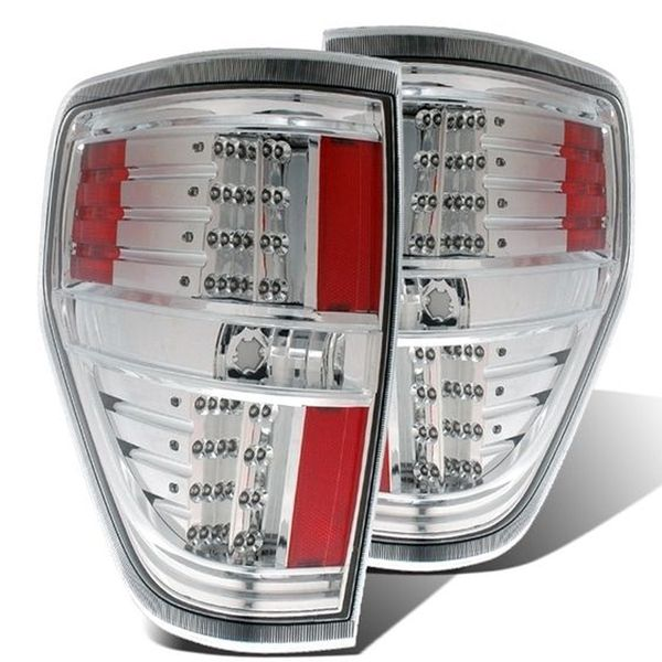 09-13 Ford F150 Styleside Euro Style LED Tail Lights - Chrome