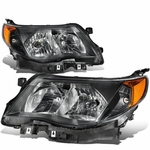 09-13 Subuaru Forester Replace Crystal Headlights - Black / Amber