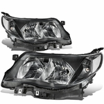 09-13 Subuaru Forester Replace Crystal Headlights - Black / Clear