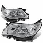 09-13 Subuaru Forester Replace Crystal Headlights - Chrome / Clear